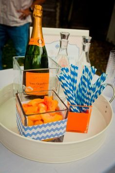 Bellini bar for a Gator party
