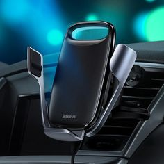 Samsung Note 8//7//5 Samsung S8+//8 Automatic Clamping Gravity Sensor Car Phone Mount 10W 7.5W Qi Fast Charging Dashboard Air Vent Phone Holder Compatible with iPhone 8//8P//X Wireless Car Charger Mount