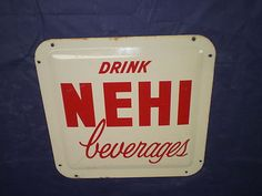 Vintage NEHI Beverages Soda Sign Metal Convex/Bubbles Out--VERY RARE--LQQK!~WOW!