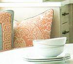 pattern for sofa and greek key trim pillow for chair