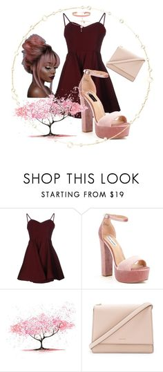 """Block Heels"" by sofiadelouya ❤ liked on Polyvore featuring Glamorous, Steve Madden and Kate Spade"