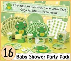 If we're having a boy....Frog Baby Shower