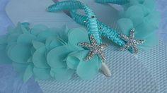 Hey, I found this really awesome Etsy listing at https://www.etsy.com/listing/509366779/aqua-blue-bridal-flip-flops-beach