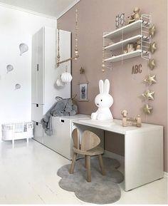 A pretty kid's room - Kinderzimmer Till - Home end Baby Bedroom, Baby Room Decor, Girls Bedroom, Ikea Childrens Desk, Girl Desk, Ikea Kids, Kids Room Design, Room Kids, Nursery Design