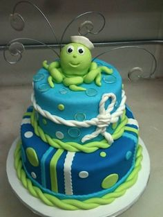 Cake Wrecks - Home - Sunday Sweets: Tasty Tentacles! Cake Wrecks, Cupcakes, Cupcake Cakes, Octopus Cake, Nautical Cake, Sea Cakes, Occasion Cakes, Cakes For Boys, Fancy Cakes