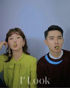 Do Kyungsoo & Park Sodam featuring Mongmool for Look Magazine Kyungsoo, Chanyeol, Park So Dam, The Underdogs, Look Magazine, Exo Do, Do Kyung Soo, Poses For Men, Korean Actresses
