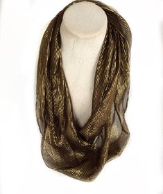 Black Sparkly infinity scarf, Gold Black scarf, Mothers Day gift for Mother, Shimmer fabric neck scarves, Birthday gift For Sister in law by blingscarves. Explore more products on http://blingscarves.etsy.com