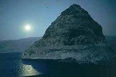 Pyramid Lake in Moonlight
