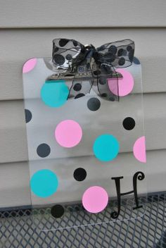 Personalized Acrylic Clipboard by PersonalizedParadise on Etsy, $15.00  too late for this year......