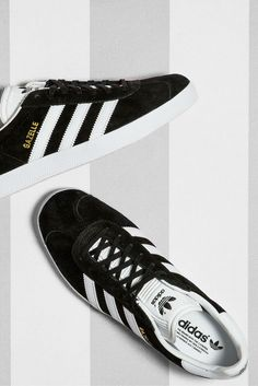 An adidas Gazelle is a classic, especially in black suede. Get yours now
