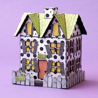 so cute...made from a paper mache house. I really want to make one for thanksgiving and Christmas
