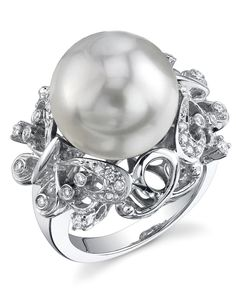 South Sea Pearl & Diamond Felicity Ring - The Pearl Source