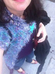 Novelty yarn #crochet jacket