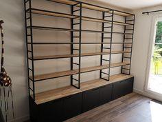 Industrial Design Furniture, Diy Pallet Furniture, Furniture Design, Store Shelving, Shelves, Industrial Closet, Retail Store Design, Optometry, Shelf Design