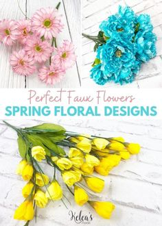 Check out our favorite faux flowers for creating designer spring decor.
