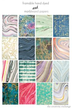 Frame-Worthy Hand Dyed and Marbleized Papers and Where to Get Them