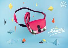Sac Moustiko ! #sac #besace #personnalisable #personnalise #tissu #design #couleur #rose #fleur #papier #origami #forme #geometrique #triangle #mrtipoi
