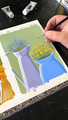 Art Painting Gallery, Painting & Drawing, Love Painting, Painting Canvas, Gouche Painting, Mini Canvas Art, Painting Techniques, Art Drawings, Aesthetic Painting