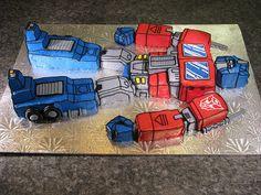 Optimus Prime Cake...for my sister @Kait Gunn. No joke.