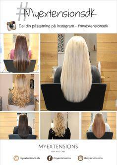 Hvis du ikke allerede ved det, kan du også finde Myextensions på Instagram. Har du været inde og få påsat hair extensions, eller har du købt lækkert hår fra vores webshop, er du meget velkommen til at poste billedet på Instagram under hashtagget #myextensionsdk. Vi tagges ved på Instagram :)