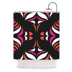 "Miranda Mol ""Magenta Orange Hawaiian Retro"" Shower Curtain   KESS InHouse"