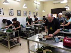 Cooking class at the Hanoi Cooking Centre. This was the single most fun thing we did all week!  Hanoi, Vietnam. Picture by Ritsuko Watanabe.