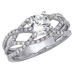 "Tatiana, this is the ""infinity"" ring we were talking about    .90 ct. t.w. Criss-Cross Diamond Engagement Ring (H-I, I1)"