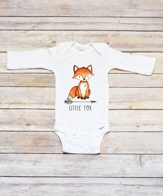 e31ace5dd White 'Little Fox' Long-Sleeve Bodysuit - Infant Baby Boy Outfits, Toddler