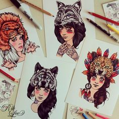 Image of Hood Girls Card Set