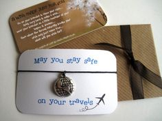 Stay safe on your travels...Wish String Bracelet... by oswellnrose
