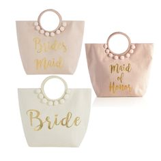 #sponsored Don't miss out on this deal! This Bridal Tote Trio includes the Bride Ivory Tote, the Maid of Honor Tote, and the Bridesmaid Tote! @boitedemariee #wedding #weddingplanning #bride #bridesmaids #maidofhonor #bridesmaidgifts
