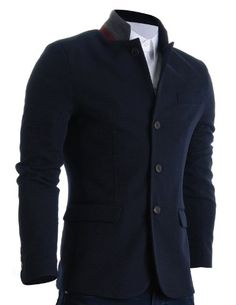 FLATSEVEN Mens Slim Casual Waffle Fabric Blazer Jacket Navy, Mens L (Chest 42) FLATSEVEN http://www.amazon.com/dp/B00CCQ6VE4/ref=cm_sw_r_pi_dp_UGc7ub023S3VF #FLATSEVEN #Mens #Casual #Blazer #Jacket