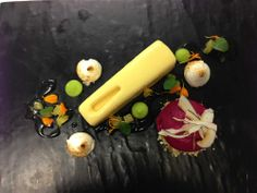 Tangy Citrus Semifreddo served with a lime curd, pineapple and ginger confit, toasted marshmallows and pistachio... hungry? #food #australia #thalabeachlodge @Australia ... #restaurantaustralia