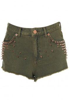 Shorts mit Nieten von Topshop