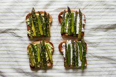 Roasted Asparagus Toast