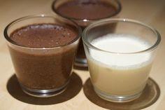 Crème chocolat et crème noix de coco (sans gluten, sans lactose)
