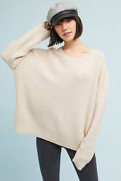 Oversized Scoop Neck Pullover