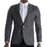 FLATSEVEN Mens Slim Fit Check Premium Blazer Jacket (BJ284)
