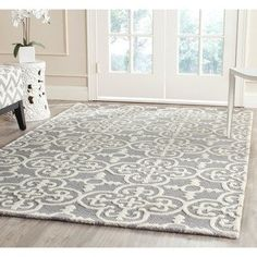 Safavieh Handmade Moroccan Cambridge Oriental Blue/ Silver Wool Rug (9' x 12') | Overstock.com Shopping - The Best Deals on 7x9 - 10x14 Rugs