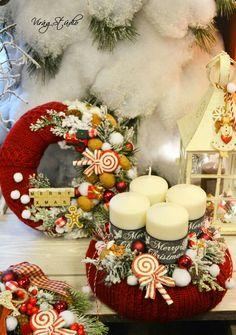 40 White Christmas Tree Worth Trying on Christmas Christmas Advent Wreath, Handmade Christmas Decorations, Xmas Wreaths, Noel Christmas, Christmas Candles, Green Christmas, Xmas Decorations, Winter Christmas, Christmas Crafts