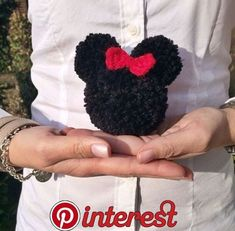 Ideas For Crochet Animals Disney Mickey Mouse Amigurumi toy animal knitting models are - Amigurumi Pom Pom Wreath, Pom Pom Rug, Crochet Disney, Disney Diy, Disney Crafts, Disney Mickey, Disney Ideas, Cute Crafts, Diy And Crafts