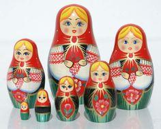 Poupées gigogne à vendre matriochka russe des arts et métiers babouchka 7pc in | eBay