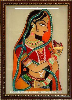 Indian Princess Glass Painting