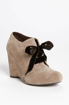 So I normally don't like the wedge boot combo... but these seem to work for me somehow... the narrowing before the heel, maybe?  and the bow.... these are kinda cute...  I might wear these... :) Børn 'Kensi' Boot | Nordstrom $164.95