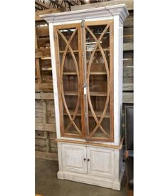 Farmhouse by Head Springs Depot Farmhouse Tall Vitrine with Glass Nero White with Traditional Medium Doors (A) Apothecary Cabinet, Seaside Style, Traditional House, Built Ins, Glass Door, Painted Furniture, Tall Cabinet Storage, Family Room, Side Board