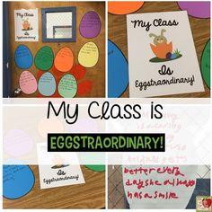 My Class is Eggstraordinary!  FREEBIE
