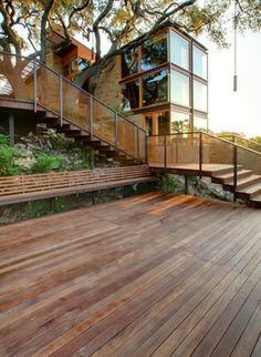 Deck Stairs Wire Rails Design Ideas, Pictures, Remodel, and Decor - page 10