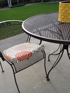 Just Another Hang Up: Refurbishing Wrought Iron Furniture.