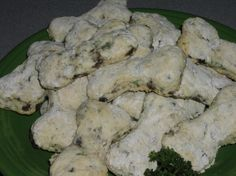 Yummy Doggie Scones from Food.com:   I don't remember where this recipe came from but your dog is going to love it.