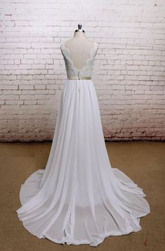 Wedding Dress,Wedding Gown, Transparent Bodice Bridal Gown With V-Back Cut, Wedding Dress, A-line, Custom,Sexy Style, by LaceBridal on Etsy https://www.etsy.com/listing/160578655/wedding-dresswedding-gown-transparent